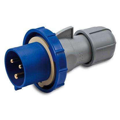 Immagine di Spina industriale dritta, stagna, cablaggio rapido, bassa tensione, 16 A,  IP67, 230 V, 2P+T