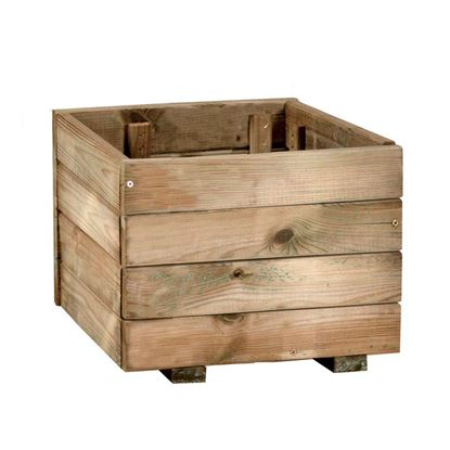 Immagine di Fioriera Rustica, legno di conifera impregnato in autoclave, 40x40 cm