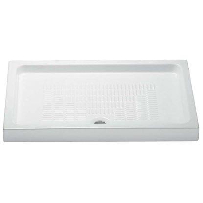 Immagine di Piatto doccia Julieta, in ceramica, colore bianco, 120x70 cm