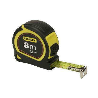Immagine di Flessometro Tylon Stanley, cassa in ABS antiurto, nastro professionale, 8 mt