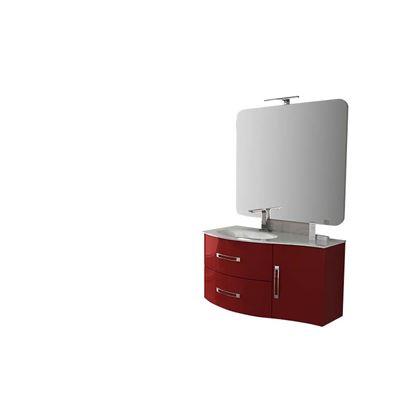 Immagine di Base laterale Best 34 cm, sospeso, 1 anta soft-close, dx/sx, colore rosso lucido