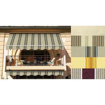 Immagine di Tenda da sole Itaca, tessuto in poliestere, 280 gr/m², 2x3 mt, colore beige/verde