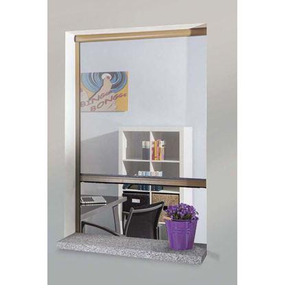 Immagine di Zanzariera a rullo, per porta, orizzontale colore bronzo, 130x230 cm