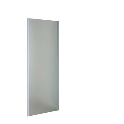 Immagine di Lato fisso per porte, profilo cromo, cristallo acidato, spessore 6 mm, 70x195 cm