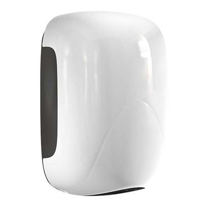 Immagine di Asciugamani Mini Zefiro cover in ABS bco asciuga 20sec funziona autom/infrarossi garanzia 3anni (escluso mat di consumo)