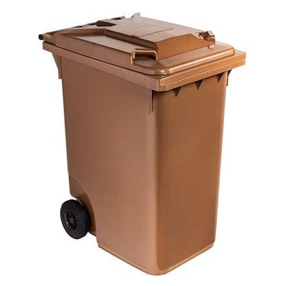 Immagine di Contenitore in plastica Contivia 2, 2 ruote 360 lt, marrone