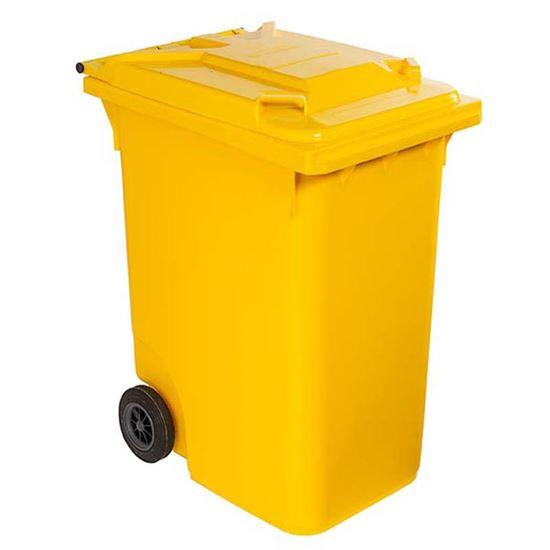 Immagine di Contenitore in plastica Contivia 2, 2 ruote 360 lt, giallo