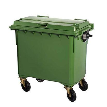 Immagine di Contivia 4 - Contenitore in plastica Contivia 4, 4 ruote 660 lt, verde