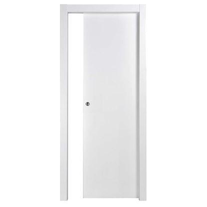 Immagine di Porta Tatiana reversibile, scorrevole, bianca, 80x210 cm