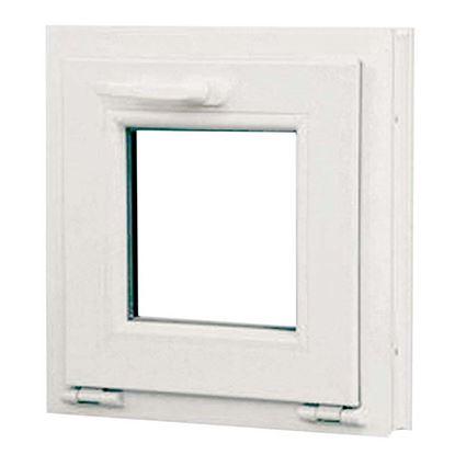 Immagine di Finestra pvc 1 anta vasistas 6 camere, doppio vetro, 45x45 cm, colore bianco