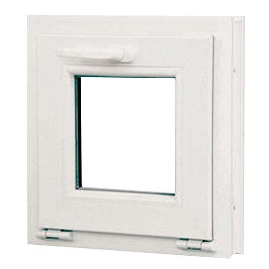 finestra pvc 1 anta vasistas 6 camere doppio vetro 45x45