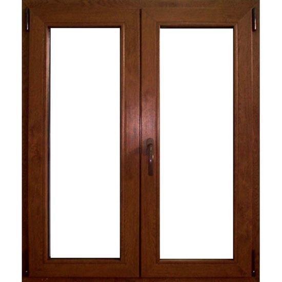 Finestra pvc 2 ante 6 camere doppio vetro 100x120 cm for Finestra pvc 2 ante