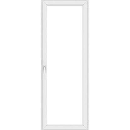 Immagine di Portafinestra pvc 1 anta 6 camere, doppio vetro, 80x220 cm, colore bianco