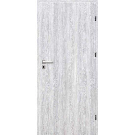 Immagine di Porta da interno reversibile, colore grigio chiaro, telaio 10 cm, 70x210 cm