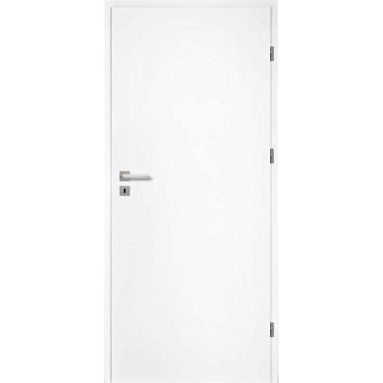 Immagine di Porta da interno reversibile, colore bianco, telaio 10 cm, 70x210 cm