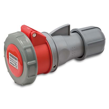 Immagine di Presa industriale dritta 32A, 3P+N+T, 6h, colore rosso, IP67, 380-415V