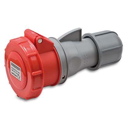 Immagine di Presa industriale dritta 16A, 3P+T, 6h, colore rosso, IP67, 380-415V
