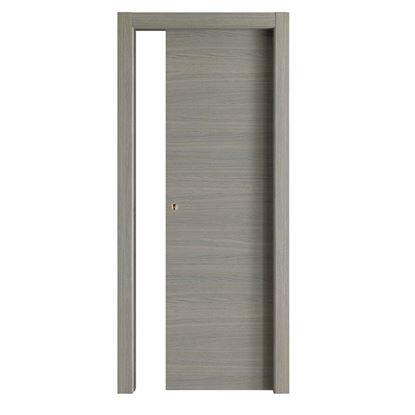 Immagine di Porta Giorgia reversibile grigio quarzo, scorrevole, 80x210 cm