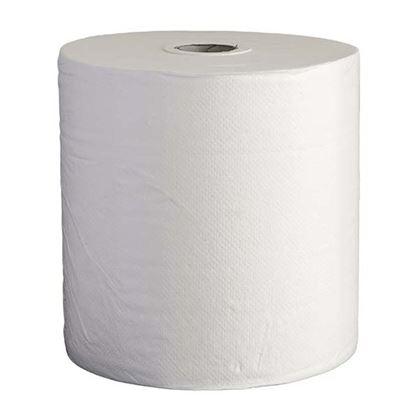 Immagine di Rotolo asciugamani, per utocut, pura cellulosa microgroffata, 2 veli, 120 mt, 500 strappi