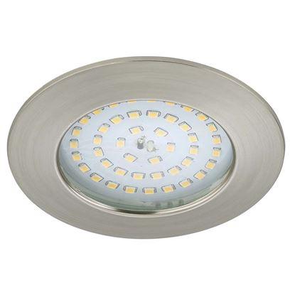Immagine di Faretto LED 10,5W, incasso, Ø10 cm, IP44, 1000 lumen, nikel satinato