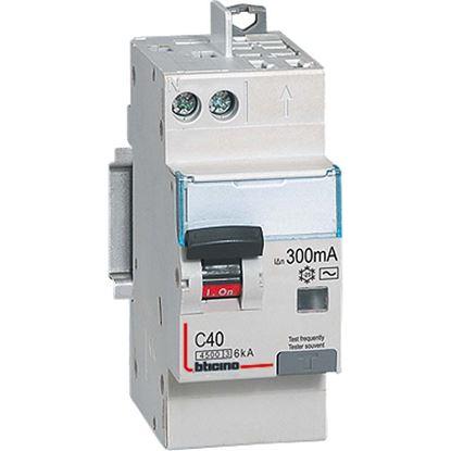 Immagine di Interruttore magnetotermico BTICINO differenziale 1P+N 20A, 4,5ka, 30ma, 2 moduli, 230 va.c