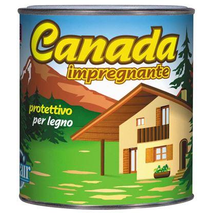 Immagine di Impregnante a solvente Canada, alta protezione, 0,75 lt, colore rovere