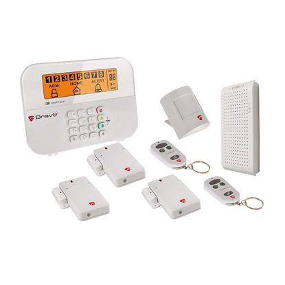 Immagine di Allarme Wireless Scudo Combo, centralina LCD, sensore movimento, 3 sensori porta/finestra, GSM, sirena integrata