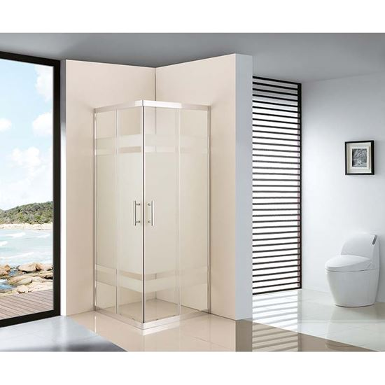 Immagine di Box doccia Stella, profilo cromato, 67,5/69x87,5/89xh185 cm