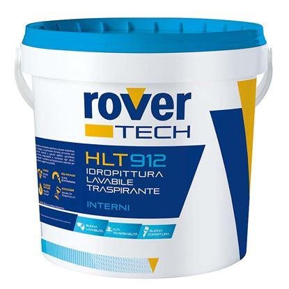 Immagine di Idropittura lavabile Rover Tech elevata copertura e resistenza al lavaggio bagno e cucina bianco 14lt