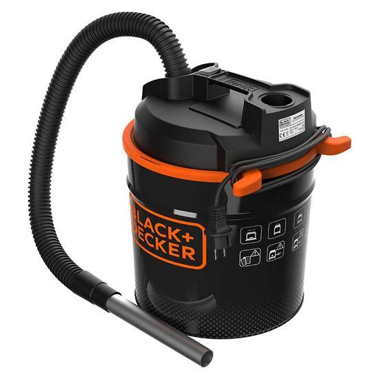 Immagine di Aspiracenere Black+Decker 20 lt, potenza 900 W, filtro Hepa, funzione soffiante, tubo in metallo