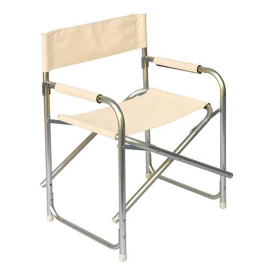 Sedia Regista Pieghevole Alluminio.Sedia Regista Pieghevole In Alluminio Colore Ecru
