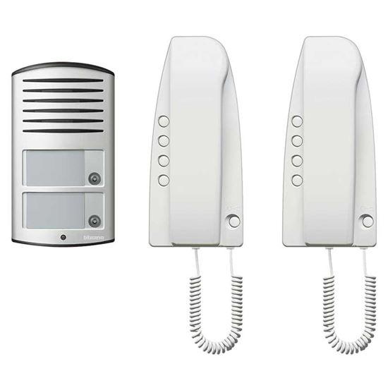 Immagine di Kit citofonico SPRINT bifam pulsante per automatismo