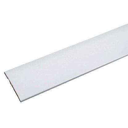 Immagine di Coprifilo, ricoperto liscio, bianco, 70x10x2250  mm