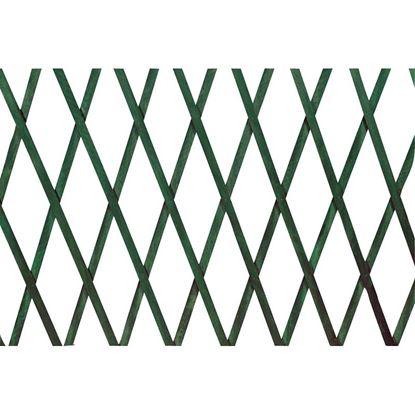 Immagine di Traliccio estensibile legno verde, 100x200 cm