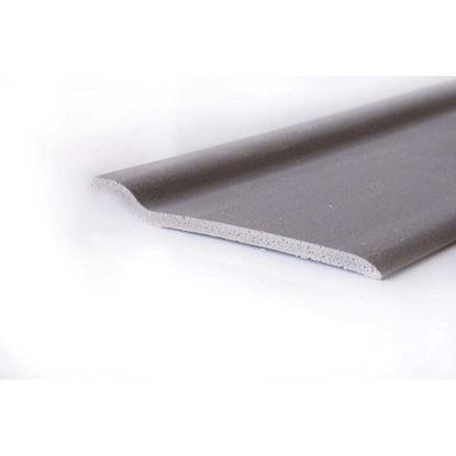 Immagine di Battiscopa pvc, piede bianco, 70x03x2000 mm