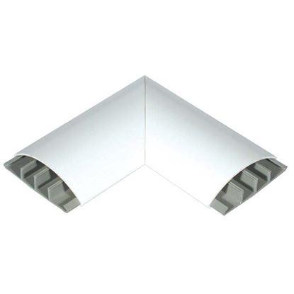 Immagine di Curva piana, colore bianco, 75x18 mm