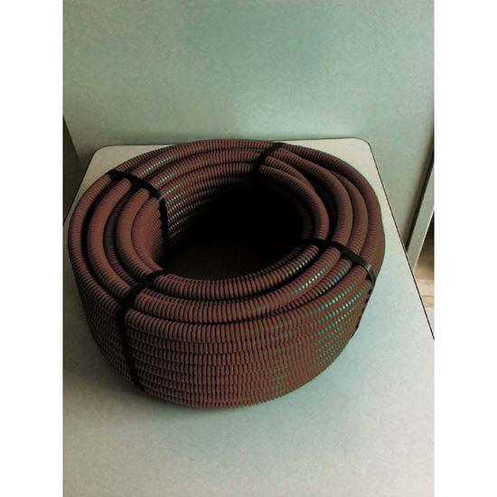 Immagine di Tubo corrugato, colore marrone, senza tirafilo, bobina 50 mt, Ø 25 mm