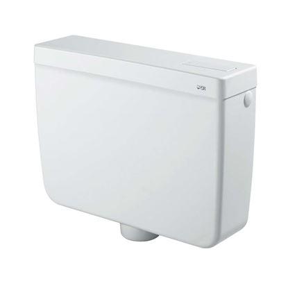 Immagine di Cassetta a zaino CR, Export, con tasto economizzatore d'acqua start/stop, con rubinetto