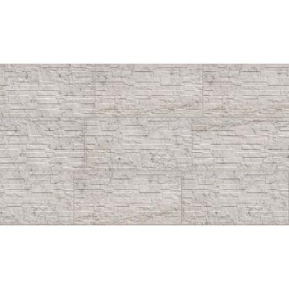 Immagine di Placchetta Granito, gres porcellanato, confezione da 1,35 m², 31x62 cm, colore carrara