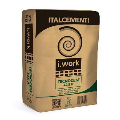 Immagine di Cemento Tecnocem, II/A-LL 42,5R,  cemento Portland, tipp II, per getti faccia a vista, strutture , 25 kg