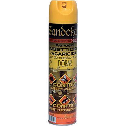 Immagine di Insetticida Acaricida DOBAR, spray aerosol, azione abbattente immediata, insetti volanti, striscianti ed acari, 400 ml